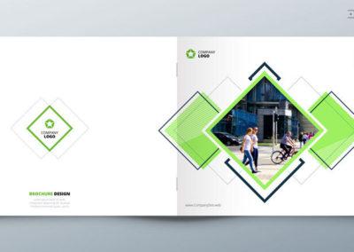 Landscape Brochure design for architecture, travel, real estate, fashion, property, education, eco, sport, transport. Corporate business template for rectangle brochure, report, catalog, magazine