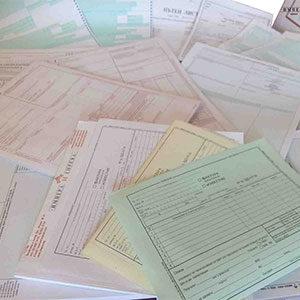 Документи на химизирана хартия