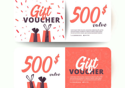 Gift Certificate. Gift card. Gift voucher. Coupon template.